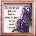 Silver Creek Art Glass S012 Iris The Will of God Panel