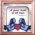 Artistic Gifts Art Glass S015 Amish A Friend Loveth Panel