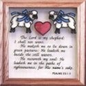 Artistic Gifts Art Glass S021 The Lord is my Shepherd Panel