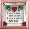 Silver Creek Art Glass S022 Home is Made of Love Panel