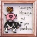 Artistic Gifts Art Glass S023 Count your Blessings Panel