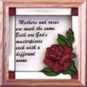 Silver Creek Art Glass S025 Mothers & Roses Panel
