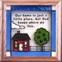 Artistic Gifts Art Glass S028 God Knows Where We Live Panel