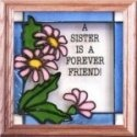 Silver Creek Art Glass S034 Daisies Sister Panel