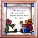 Artistic Gifts Art Glass S039 Folk Art Never Part Panel