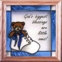 Artistic Gifts Art Glass S042b Baby Boy Blue Panel