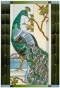 Artistic Gifts Art Glass U001 Bird Peacock Panel