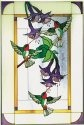Artistic Gifts Art Glass U012 Hummingbird & Fuchsia Vertical Panel