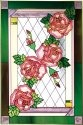 Silver Creek Art Glass U013 Rose Vertical Panel