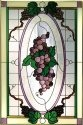 Silver Creek Art Glass U014 Victorian Purple Vertical Panel