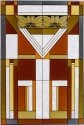 Silver Creek Art Glass U016 Craftsman Color Vertical Panel