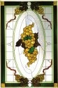 Silver Creek Art Glass U018 Victorian Golden Vertical Panel