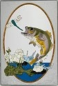 Silver Creek Art Glass U101 Fish Bass Panel