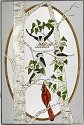 Artistic Gifts Art Glass U103 Birds in Birch Panel