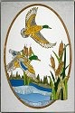 Artistic Gifts Art Glass U105 Duck Panel