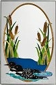 Artistic Gifts Art Glass U106 Bird Loon Panel
