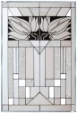 Silver Creek Art Glass V208 Mission Style White Panel