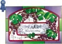 Silver Creek Art Glass V214 Plum Green Border Horizontal Panel