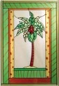 Artistic Gifts Art Glass V218 Palm Tree Vertical Panel