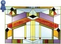 Silver Creek Art Glass V237 Deco-tectural Horizontal Panel