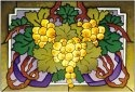 Silver Creek Art Glass V239 Grape Golden Horizontal Panel