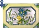 Silver Creek Art Glass V241 Iris Horizontal Panel