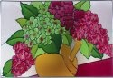 Silver Creek Art Glass V244 Hydrangea Horizontal Panel