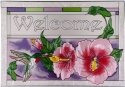 Artistic Gifts Art Glass V246 Hummingbird Horizontal Panel