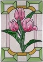 Silver Creek Art Glass V252 Tulip Vertical Panel