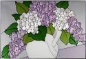 Silver Creek Art Glass V283 Hydrangea Horizontal Panel