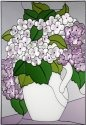 Silver Creek Art Glass V284 Hydrangea Vertical Panel
