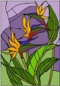 Silver Creek Art Glass V400 Bird of Paradise Vertical Panel