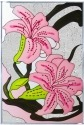 Silver Creek Art Glass V401 Lillies Stargazer Panel