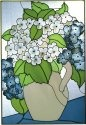 Silver Creek Art Glass V402 Hydrangea Vertical Panel