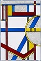 Silver Creek Art Glass V434 Deco Primary Panel