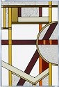 Silver Creek Art Glass V438 Deco Craftsman Panel
