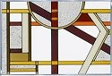 Silver Creek Art Glass V439 Deco Craftsman Panel