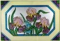 Silver Creek Art Glass V500 Iris Horizontal Panel