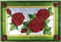 Silver Creek Art Glass V504 Rose Horizontal Panel
