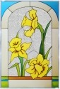 Silver Creek Art Glass V507 Daffodil Panel