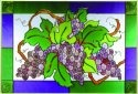 Silver Creek Art Glass V517 Grape Horizontal Panel