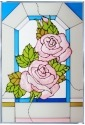 Silver Creek Art Glass V524 Rose Panel