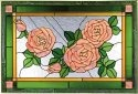 Silver Creek Art Glass V535 Rose Horizontal Panel
