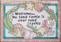 Silver Creek Art Glass V541 Welcome Pink Horizontal Panel
