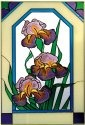Silver Creek Art Glass V546 Iris Vertical Panel