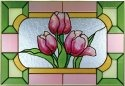 Silver Creek Art Glass V555 Tulip Horizontal Panel