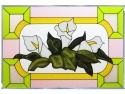 Silver Creek Art Glass V558 Lillies Calla Panel