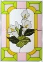 Silver Creek Art Glass V559 Lillies Calla Panel