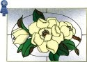 Silver Creek Art Glass V566 Magnolia Horizontal Panel