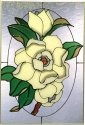 Silver Creek Art Glass V568 Magnolia Vertical Panel